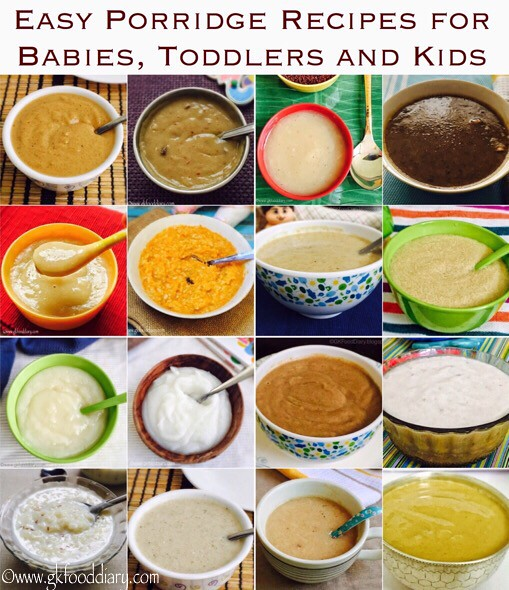Easy Porridge Recipes for Babies, Toddlers and Kids