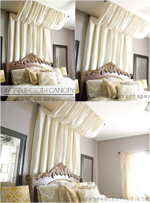 No Sew Pleated Canopy
