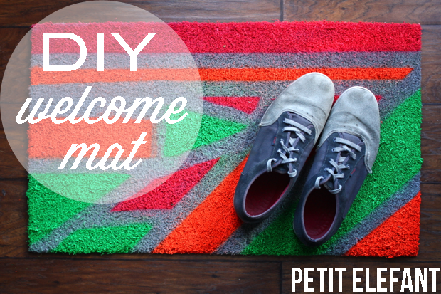11 diy painted welcome mat