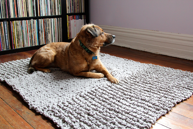 7 hand knit rug