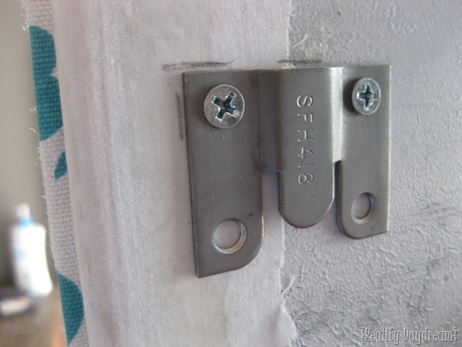 Use Flush Mount hardware to affix your headboard in front of a window
